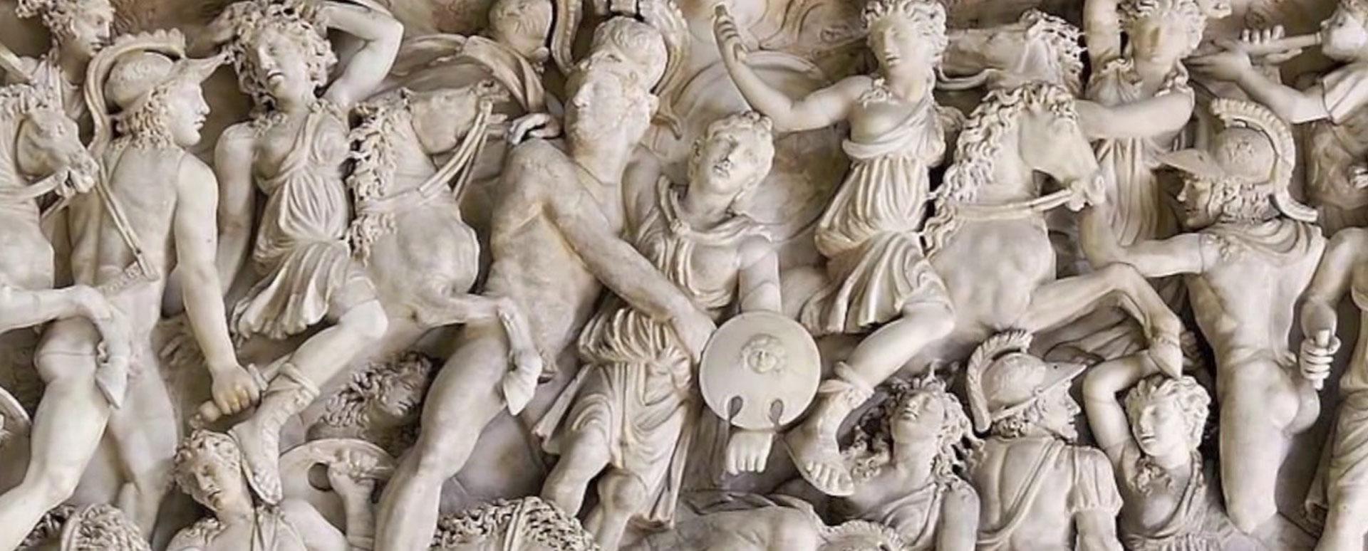 Relieve de mitología Griega