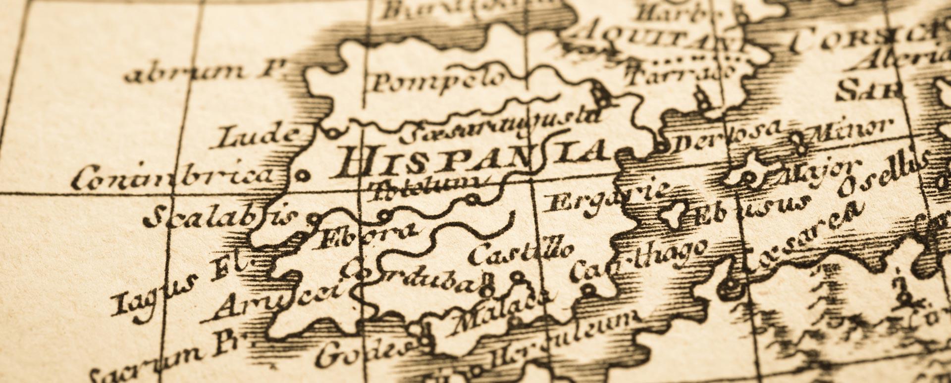 Mapa antiguo de Hispania