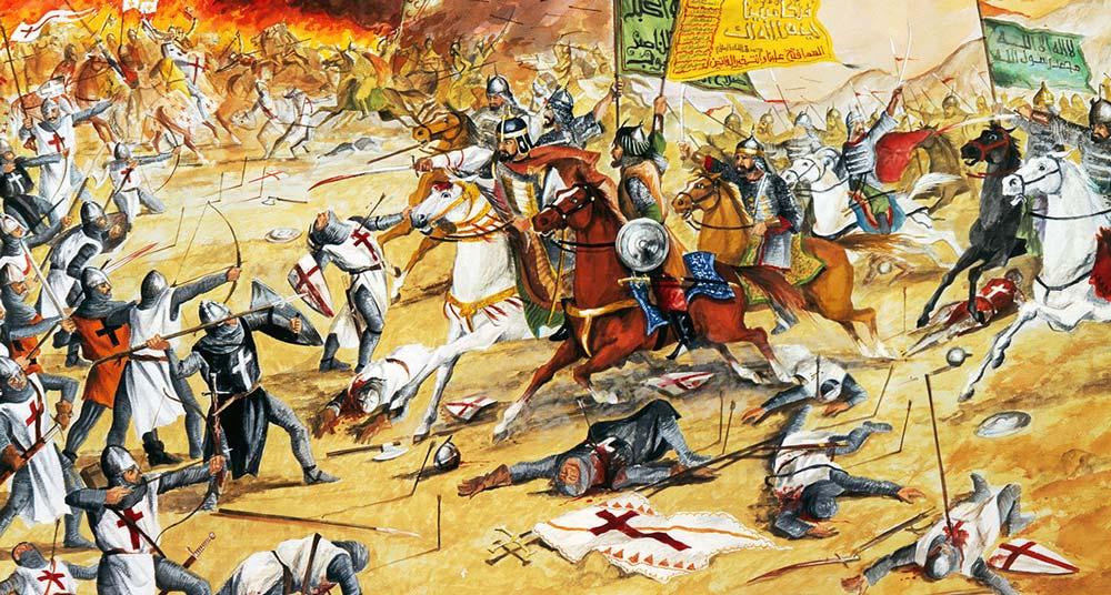 Batalla de los Cuernos de Hattin Los mamelucos atacan a los cruzados
