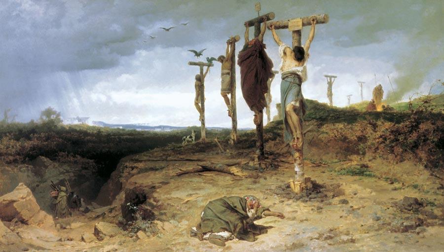 Historia del Cristianismo - Esclavos crucificados