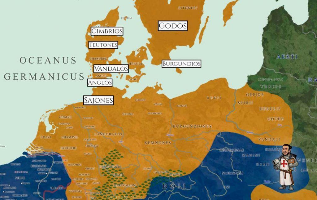 Mapa Origen de los vikingos
