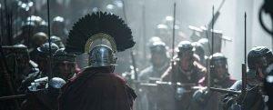 Bárbaros fotograma de legiones romanas de la serie de Netflix